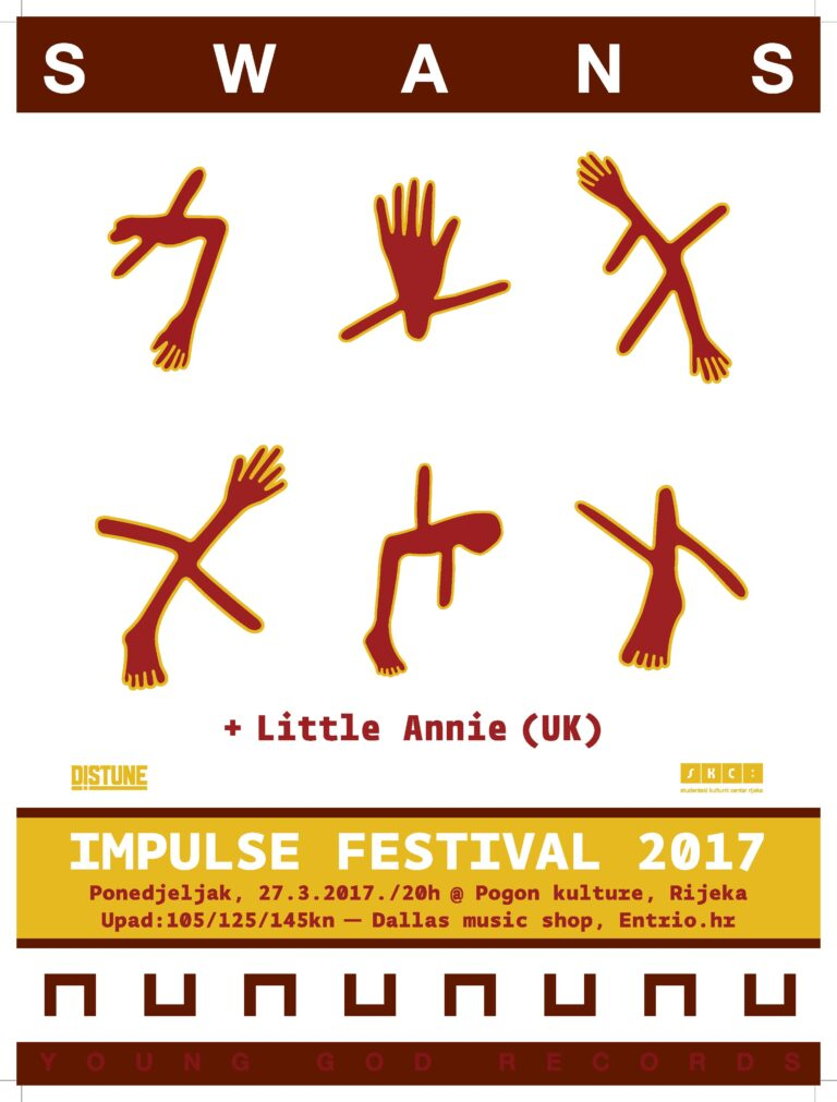 Swans + Little Annie_Impulse festival #4_Poster Design By_official band tour poster