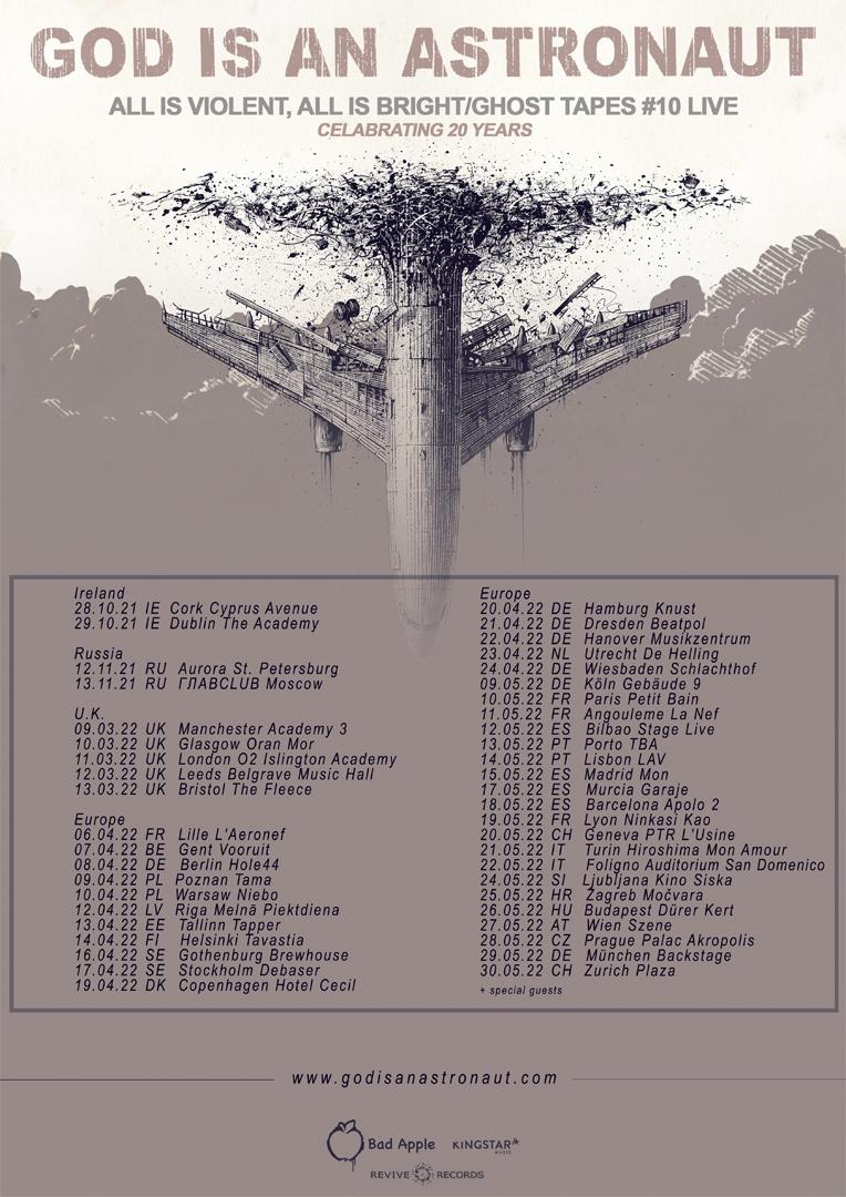 God Is An Astronaut_Distune vam predstavlja_Poster design By_official band tour poster