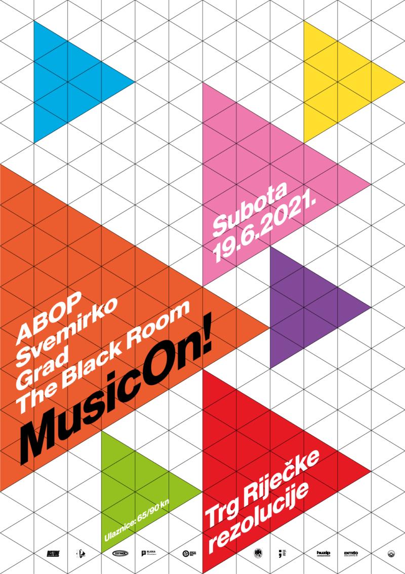 ABOP + Svemirko + Grad + The Black Room_Music ON!_Poster Design By_Radnja